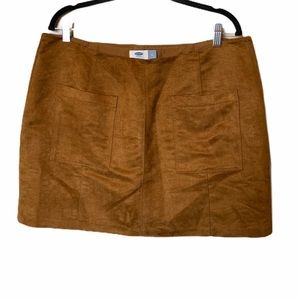 Old navy brown suede skirt size 14